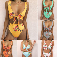 2018 New Sexy Swimsuit Print Bikinis Swimwear Women Push Up Bathing Suit Swim Summer Beach Wear High Waist Brazilian Bikini Set 2017 new bikini women swimsuit high neck halter top swimwear vintage print bikinis set sexy beach swim wear bathing suit biquin