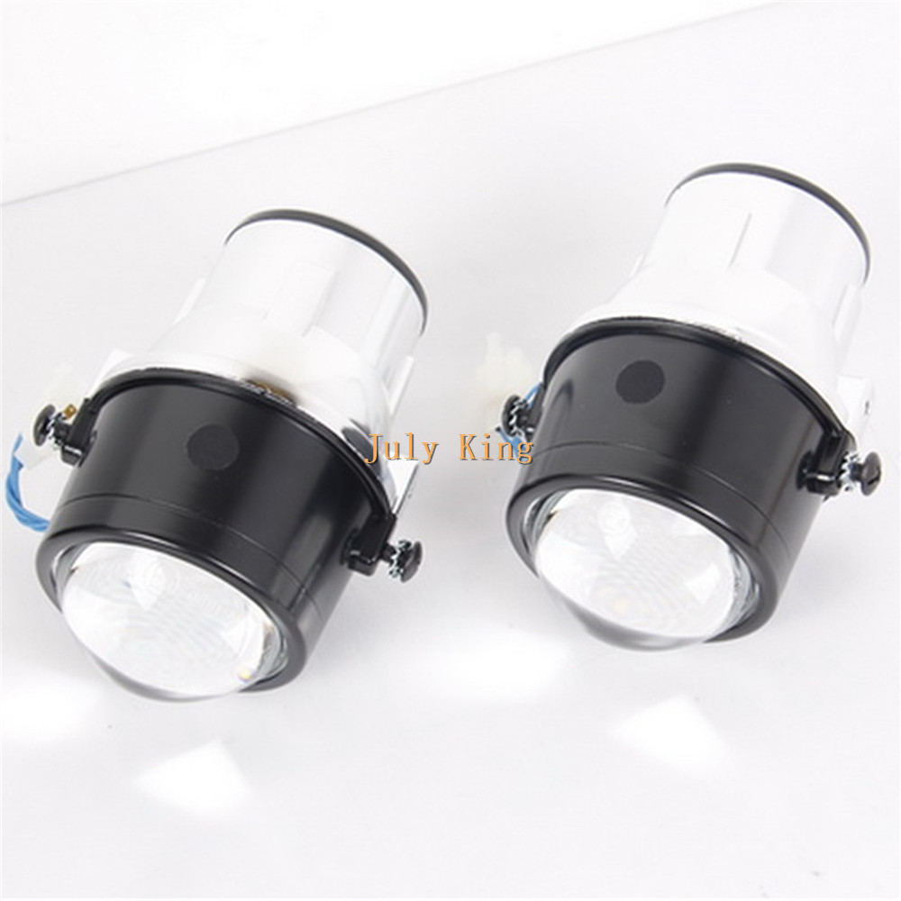 July King Car Front Bumper Bifocal Lens Fog Lamp Assembly case for Ford Focus Fiesta S-MAX EcoSport Mondeo Transit Pick-up etc. car bifocal fog lens for honda cr v accord taiwan product front bumper lights high quality free shipping