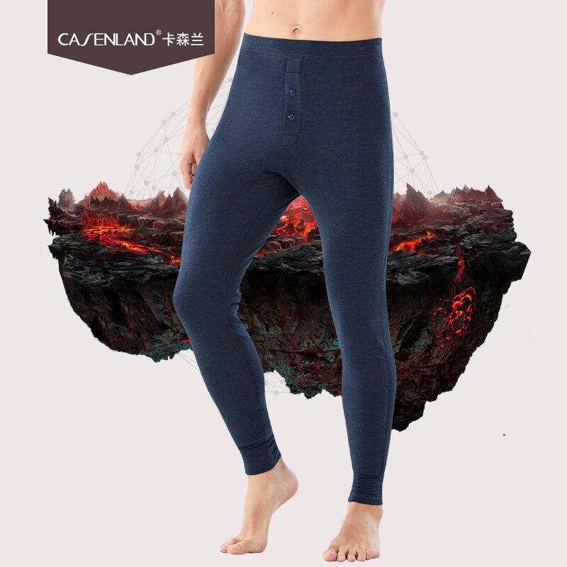 Men's five layer thick cotton pants middle aged winter plus velvet thick warm pants large size slim wool pants