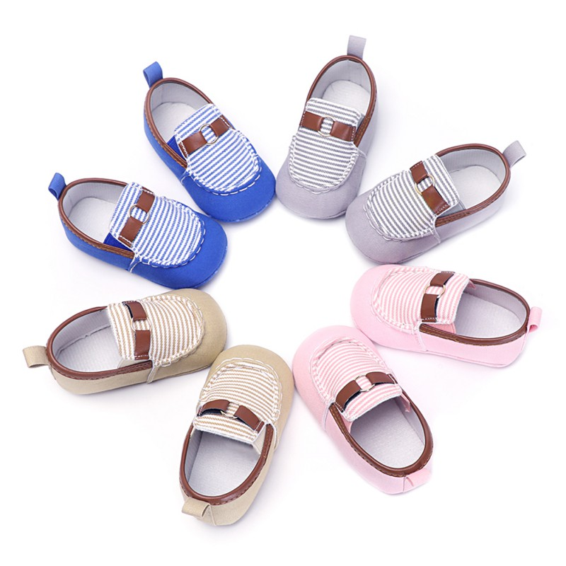 Weixinbuy Baby Kids Casual Shoes Newborn Stripe Fashion Toddler Shoes lazy SFirst Walker ...