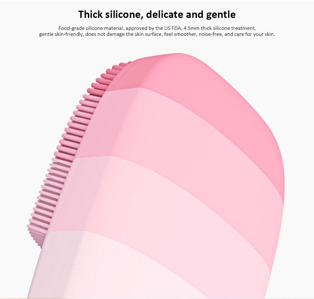 inFace MS - 2000 Adjustable Waterproof Electric Sonic Silicone Facial Cleansing Brush from Xiaomi youpin- Dark Gray