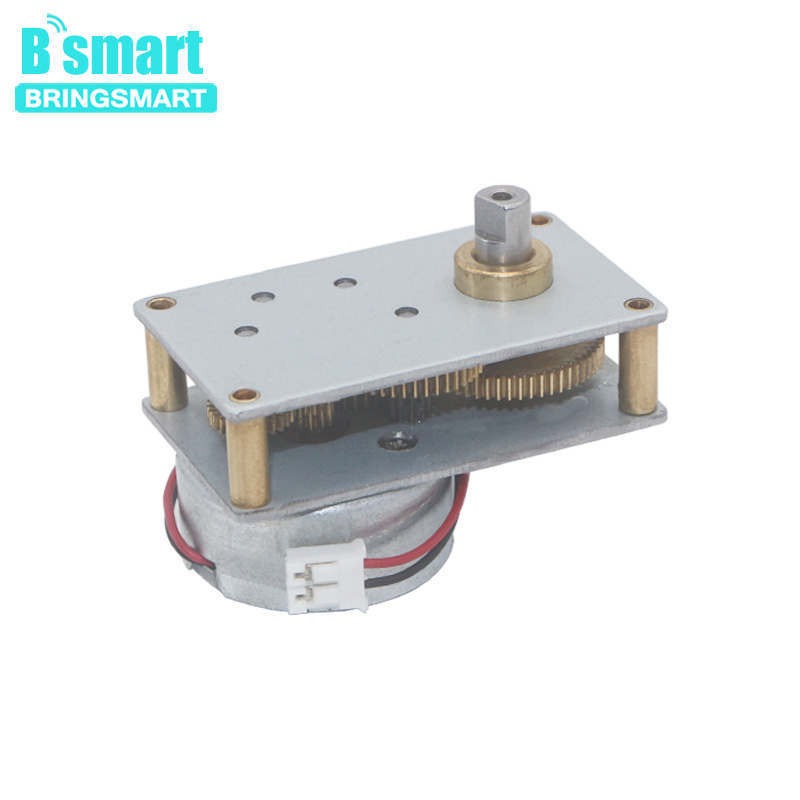 Bringsmart Small Gearbox Motor ZB4124-300 Valve Motor Reducer High Torque Miniature DC Low Speed Motor Reductor 6V Metal Gear