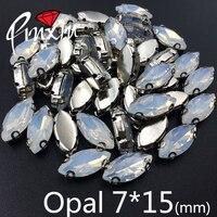 Hohe qualität Opal 7X15mm Pferd auge Weiß K. kupfer