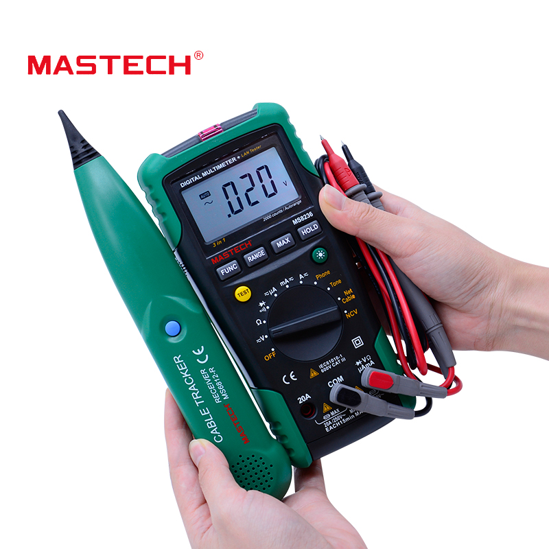 MASTECH MS8236 Auto Range Digital Multimeter LAN Tester Net Cable Tracker Tone Telephone line Check Non-contact Voltage Detector stuffed animal 40cm gray koala bear plush toy soft mother
