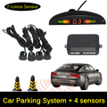 Car Parking Sensor Monitor Auto Reverse Backup Radar Detector System + LED Display + 4 Sensors 12V LED