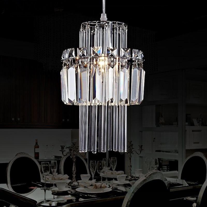 Cristal 1/3 têtes pendentif LED lampe Simple salle à manger salon chambre étude éclairage lampe suspension ZA10