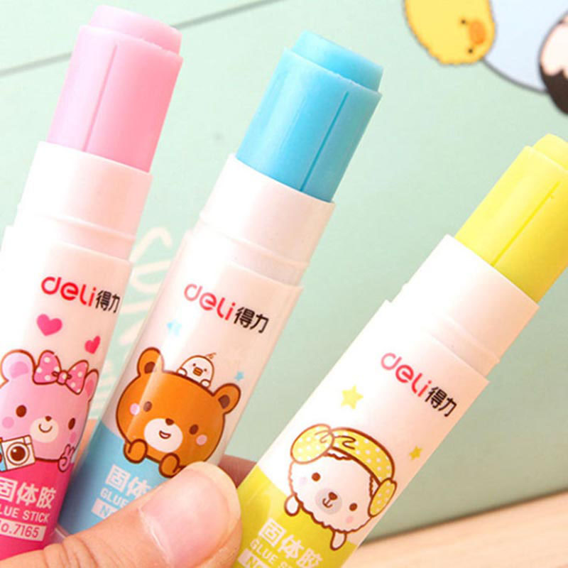 Cartoon Bear Solid Glue Cute Kawai School Glue Stick For Kids Decoration Scrapbooking Photo Album Stationery Office Supplies
