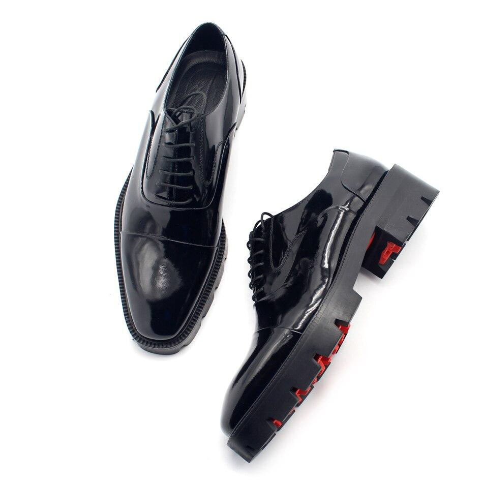 Fiesta Caliente Hombres Masculino Zapatos Grueso Talón Oxfords De Boda Vestido 2018 Moda BwxXv1WEWq