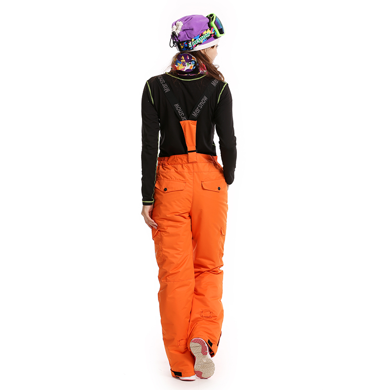 Dropshipping New US famous brand 2 layer outdoor hiking sport winter keep warm pants snowboard waterproof snow pants women