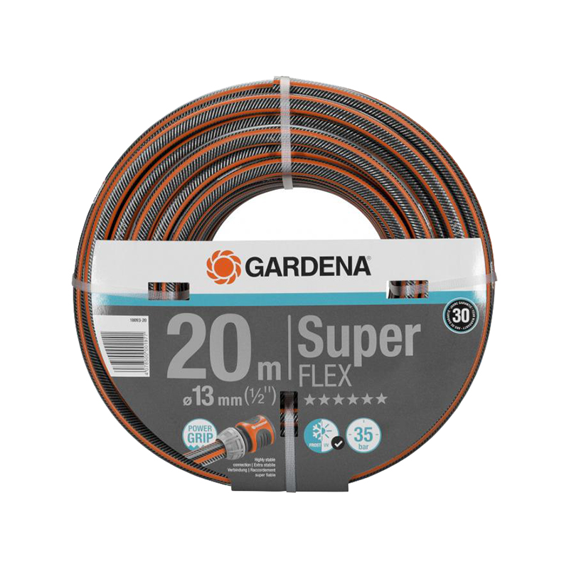 Hose GARDENA SuperFLEX 13 mm Home & Garden Garden Supplies Watering & Irrigation Garden Hoses & Reels brand new 1 5 male thread pipe fittings x 40 mm barb hose tail connector stainless steel ss304high quality