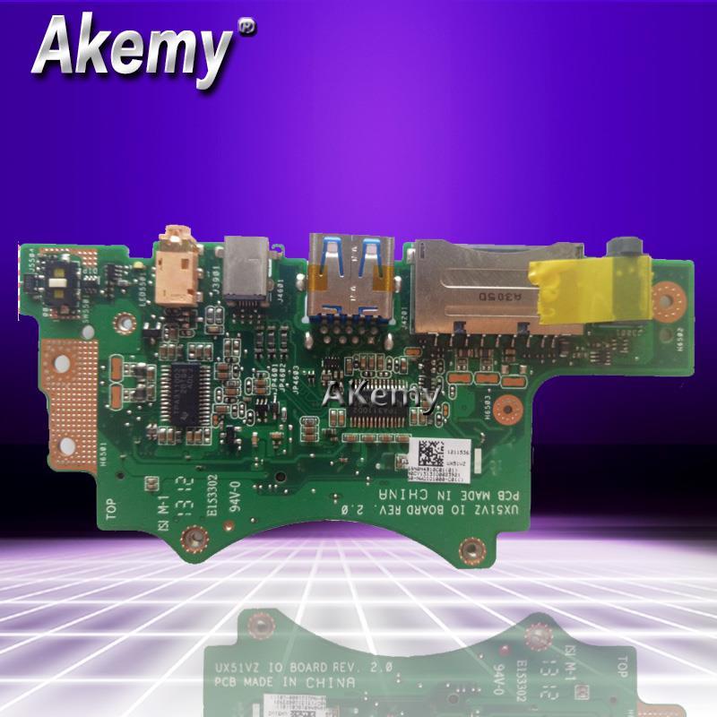 Nouveau! Pour ASUS pour ASUS UX51VZ UX51V U500V ordinateur portable Audio carte d'interface usb IO