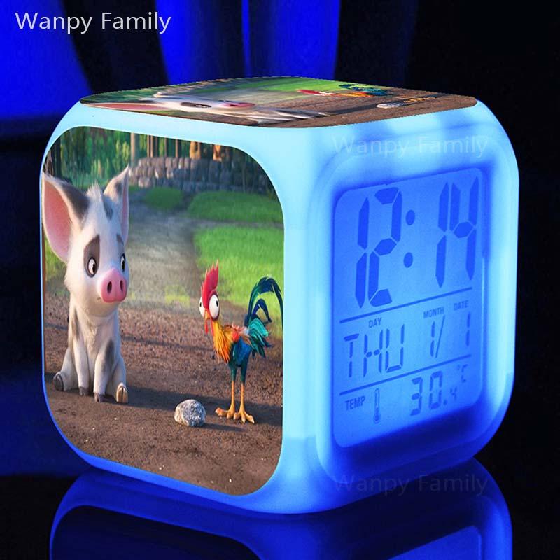Vrlo lijepi svinjski budilici užarena LED promjena boje digitalni - Kućni dekor - Foto 2