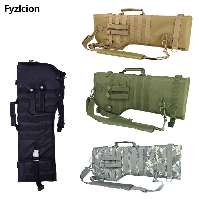 Tactical Rifle Scabbard Backpack Outdoor Hunting Backpack Holster Assault Shotgun Bag Long Gun Protection Carrier Green
