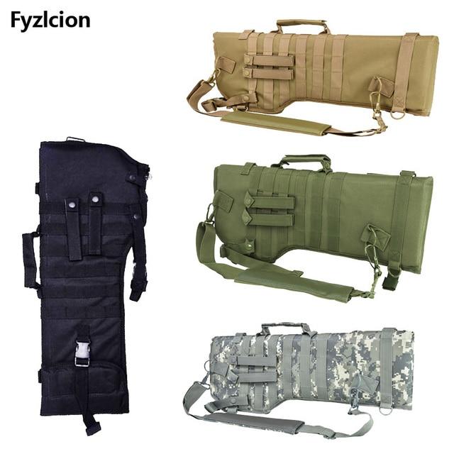 Tactical Scabbard Backpack Outdoor Hunting Holster Assault Shotgun Bag Long Gun Protection Carrier Green