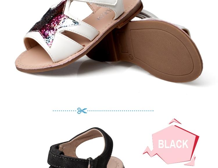 Mareya Trade - ULKNN Girls Sandals Children Shoes Glitter Star Candy ... 202af945a000