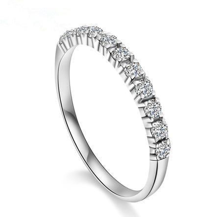 Uusi saapuminen romanttinen ikuisesti rakastavat kiiltävää CZ zirkonia ja 925 sterlinghopeaa naisten sormusormuksen koruja pudota toimitus halvalla