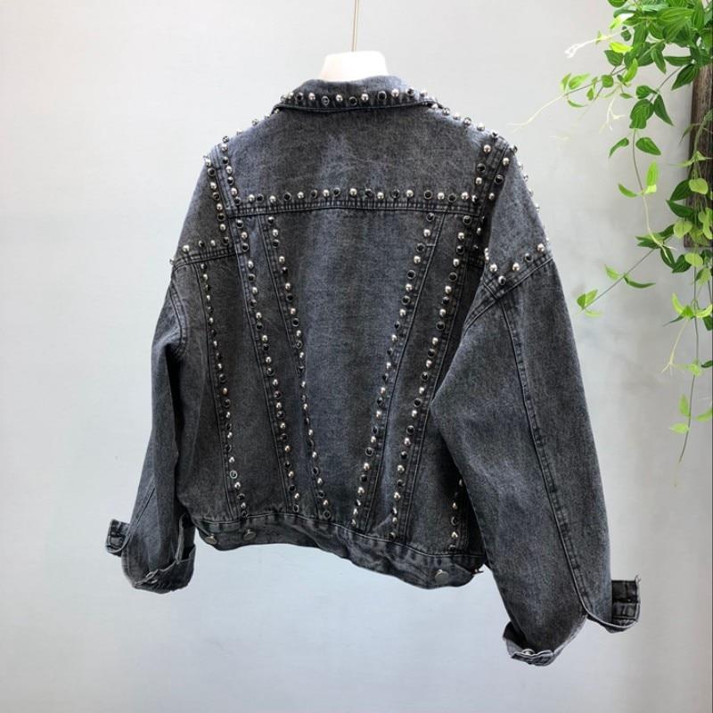 Fit Blue Black Asymétrique Longueur Veste Mode Coréenne De Qualité gdXZwd