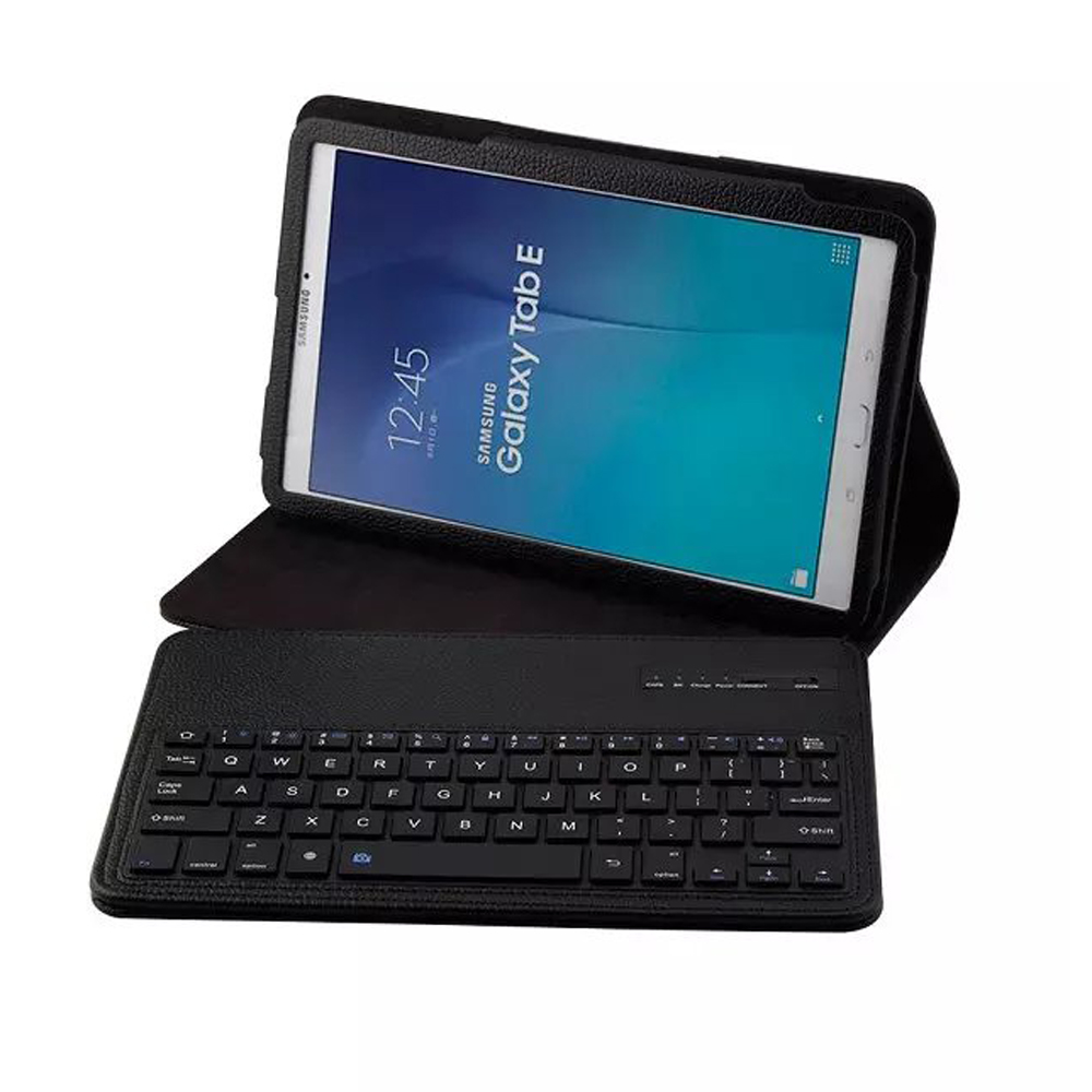 Luxury Detachable Bluetooth Keyboard Folio Stand Leather Case Cover For Samsung Galaxy Tab E 9.6 T560 T561 SM T560 9.6 9.6 inch