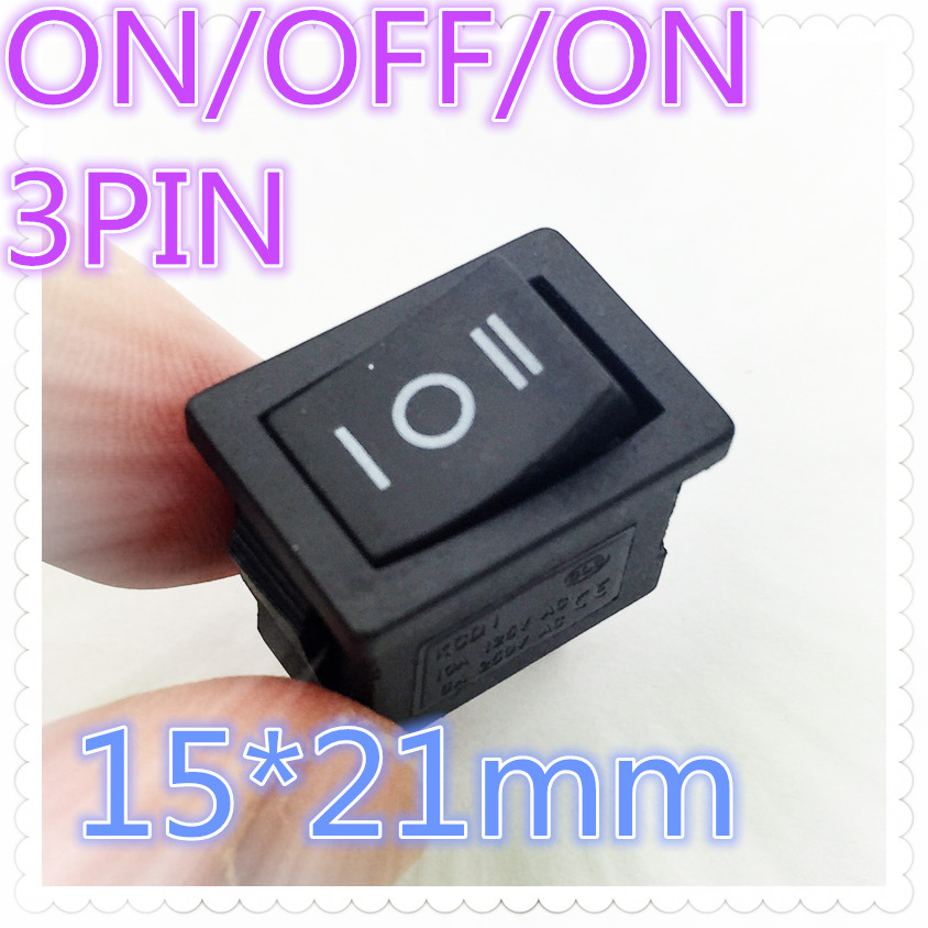 5pcs G120 15*21mm 3PIN ON/OFF/ON Boat Rocker Switch 6A/250V 10A/125V Car Dash Dashboard Truck RV ATV Home  Sell At A Loss USA 5pcs kcd1 perforate 21 x 15 mm 6 pin 2 positions boat rocker switch on off power switch 6a 250v 10a 125v ac new hot