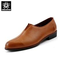 URBANFIND Новые Люди Оксфорды Плоские Кожаные Ботинки Размер 38-43 Человек Slip-On обувь Черный/Коричневый/Wine Red Цвет Мужской Осенью Ленивый обувь