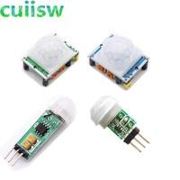 1 piezas HC-SR501 HC-SR505 AM312 ajuste IR infrarrojos piroeléctrico Mini PIR módulo Detector Sensor de movimiento para iPhone y muchos otros teléfonos móviles. soporte innovador en forma de C retráctil/ajustable para arduino