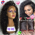 7A Silk Top Full Lace Wigs Water Wave Silk Top Lace Front Wig For Black Women Glueless Silk Base Lace Front Wig Bleached Knots