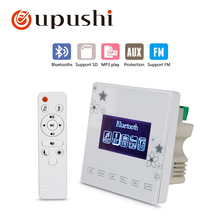 OUPUSHI A0+CE502 ceilingspeaker and amplifer  Family background music system with  fm/ sd/blutooths
