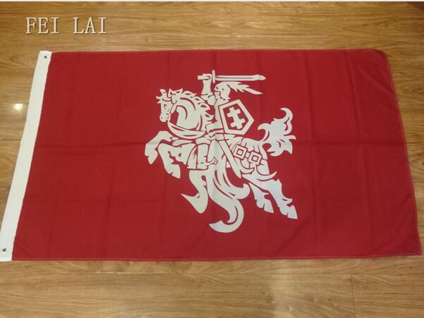 3x5FT Drapeau de Lituanie (état) 100D Polyester Double Piqué de Haute Qualité Bannière Ensign Livraison Gratuite