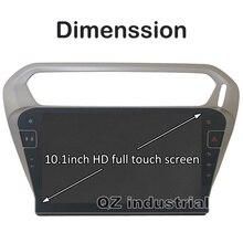 """QZ промышленный HD 10,"""" Android для peugeot 301 для Citroen Elysee автомобильный dvd-плеер с 3g 4G wifi gps Радио BT Navi RDS карта"""