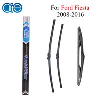 Combo Silicone Rubber Front And Rear Windshield Wiper Blade For Ford Fiesta 2008 2016 Windscreen Wipers