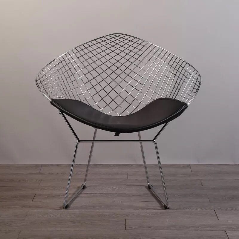 Free shipping U-BEST Harry Diamond Leisure Chair Diamond Steel Wire Chair Bertoia Diamond metal Chair pad Modern Wire Chair chroFree shipping U-BEST Harry Diamond Leisure Chair Diamond Steel Wire Chair Bertoia Diamond metal Chair pad Modern Wire Chair chro