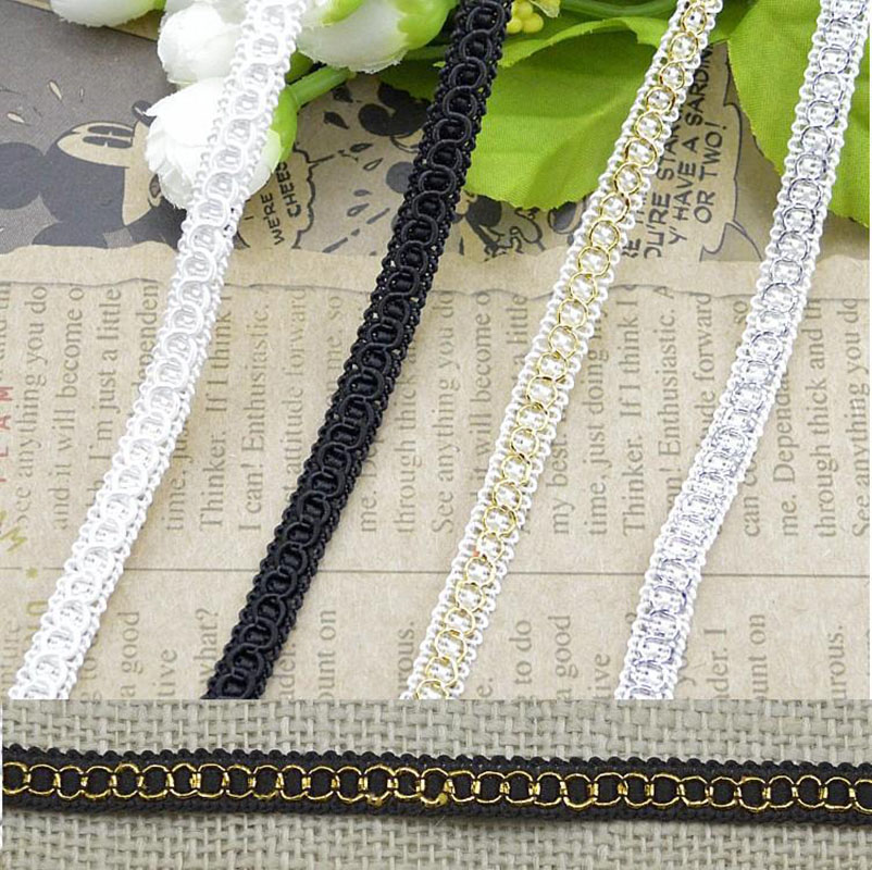 20 Yards Width 8mm Curve Lace Ribbon for DIY Wedding Handmade Patchwork Ribbon Trim Sewing Crafts C6 8 in Lace from Home Garden