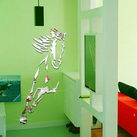 3D Horse Wall Sticker Diy Wall Poster Mirror Wall Stickers Home Decor Living Room Plastic Home