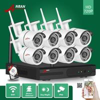 2TB HDD HD 8CH Network NVR IR 720P Wireless Outdoor Security CCTV Camera System