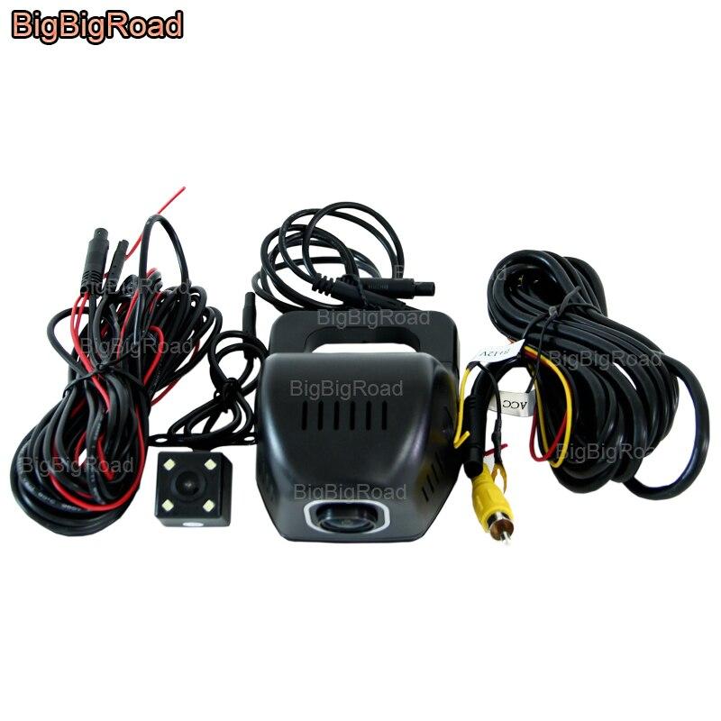 цена на BigBigRoad Car Wifi DVR For Toyota Prado 120 150 fj150 / Urban Cruiser Car Video Recorder Dash Cam Dual Cameras Car Black Box