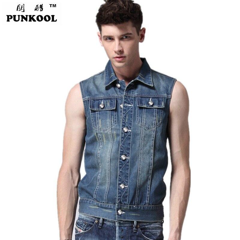 Mens Jean Vest Jacket