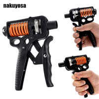 5 50KG Adjustable Long Handle Hand Grip Forearm Muscle Training Strength Train Fitness Exercise Home Workout