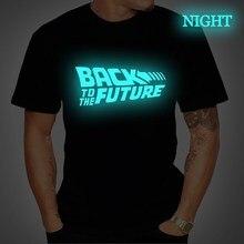 Back To The Future Tshirt Luminous T Shirt camiseta Summer S