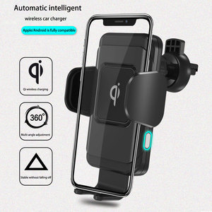 Image 2 - wireless car charger for iphonex xs automatic induction qi wireless car holder for samsung s8 s9 rotatable car charger bracket