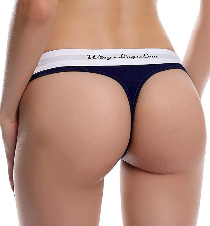 10b43f054353 WingsLove 3 Pack Women Seamless Cotton Sexy String Tangas Thong Panties  Underwear -in women's panties from Underwear & Sleepwears on Aliexpress.com  ...