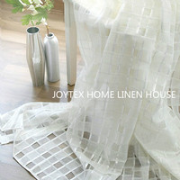 High quality European and American style yarn dyed jacquard scissored cotton yarn curtains for living room bedroom