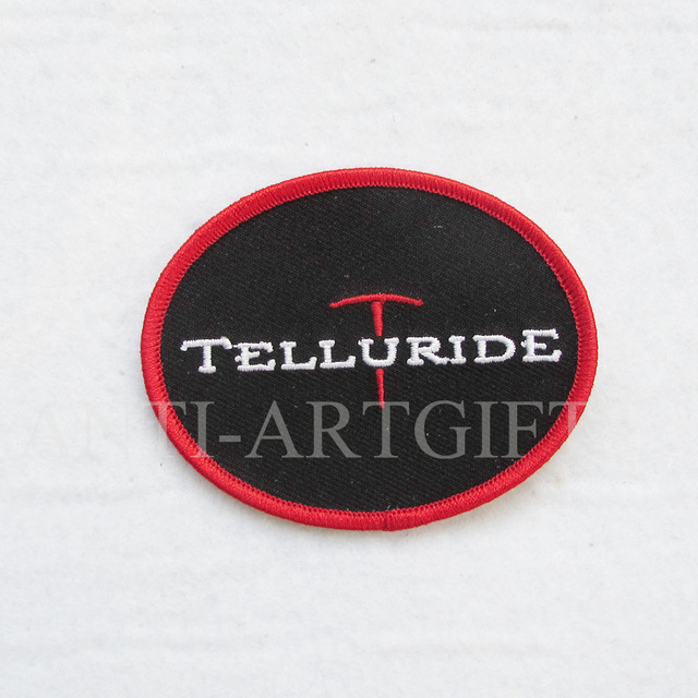 Custom Embroidery Patches By Your Logo 3 Merrow Oval Black Color