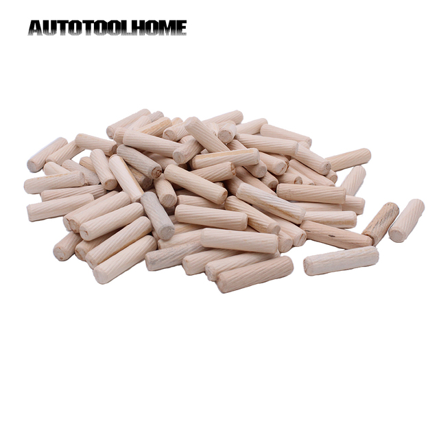 300pcs Wood Dowels Wooden Dowel Pins Fluted And Beveled Fits Pocket Jig Kit 6x40mm 8x40mm 10x50mm For Woodworking