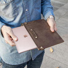 For MacBook Protective Leather Bag Notebook Computer 12 Inch Wrist Zip Genuine Protection Cover