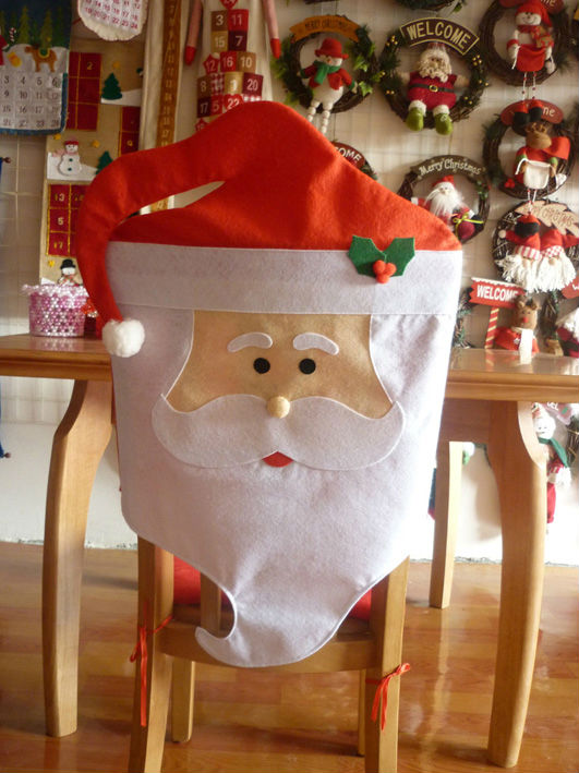 1Pair Lovely Mr Mrs Santa Claus Christmas Dining Room Chair Cover Home Party Decor In Hats From Garden On Aliexpress