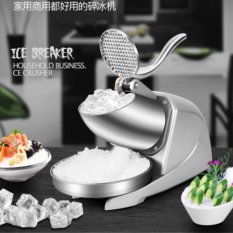 Kühlschränke Und Gefriergeräte Edelstahl Eis-crusher Schnee Kegel Maker Kommerziellen Eis Chopper Maschine 0.4kw Marke Neue