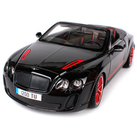 Bburago 1:19 bentley continental supersports convertible isr white black car diecast precious collecting car model for men 11035