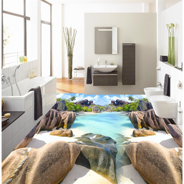 3D wall sticker HD ciottoli di colore Impermeabile Pavimento Del ...