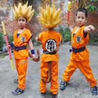 Dragon Ball Z Full Set Suit For Children Kids Monkey Dress Goku Cosplay Costume Halloween Clothes