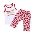 Baseball Boutique Outfit Tank Leggings Girl Set Baby Boy Summer Clothes Baseball Football Leggings HOT SALE Baby Clothes Set Kid